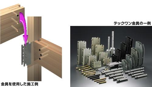 木造軸組金物工法(テックワン)
