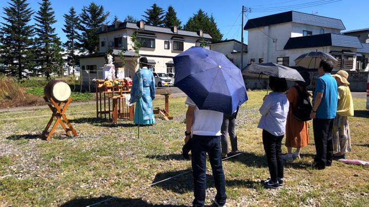 地鎮祭に出席しました。(青森市浪岡)